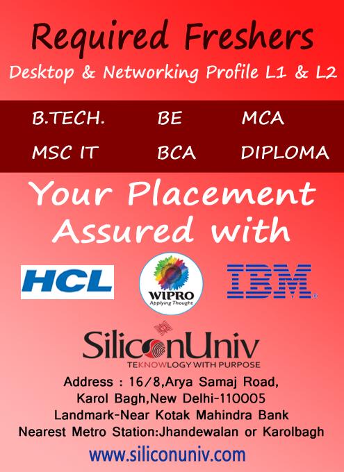 CCNA jobs in Delhi ncr   Siliconuniv